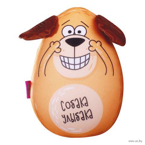 "Игрушка-антистресс ""Собака-улыбака"" (30 см; оранжевый) — фото, картинка"