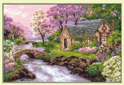 """Вышивка крестом """"Весенний пейзаж"""" (арт. 1098)"""
