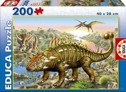 """Пазл """"Динозавры"""" (200 элементов) — фото, картинка"""