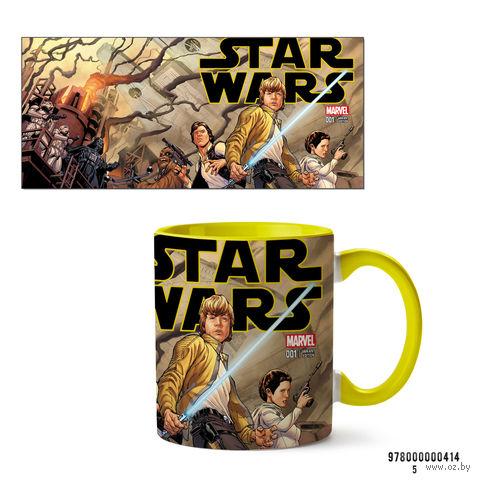 """Кружка """"Звездные войны"""" (желтая; арт. 0414) — фото, картинка"""