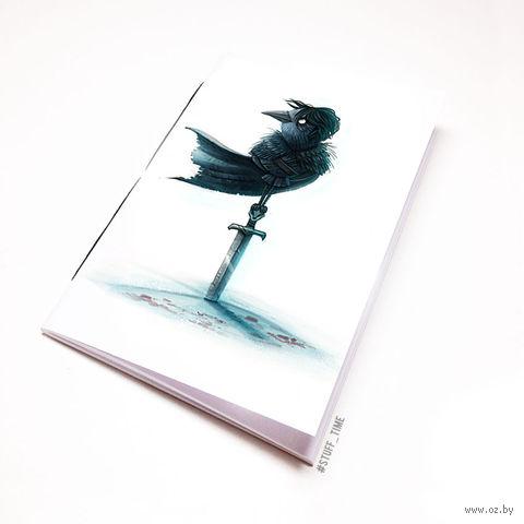 """Блокнот """"Игра престолов. Ворон"""" (А5; арт. 961) — фото, картинка"""