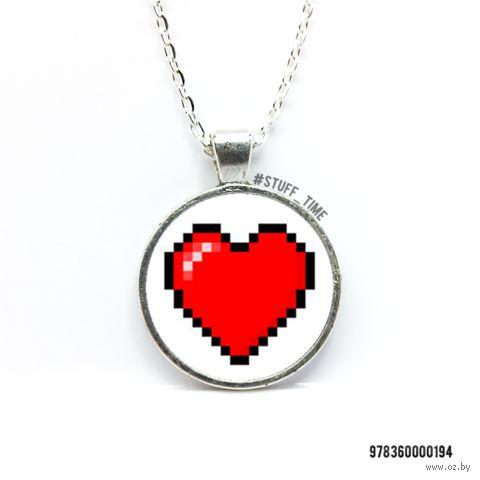 "Кулон ""Пиксельное сердце"" (арт. 194) — фото, картинка"