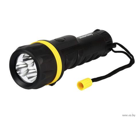 Светодиодный прорезиненный фонарь 3 LED Smartbuy 2D (черный)