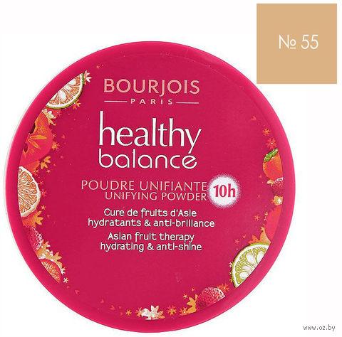 """Компактная пудра для лица """"Healthy Balance"""" (тон: 55, темный бежевый) — фото, картинка"""