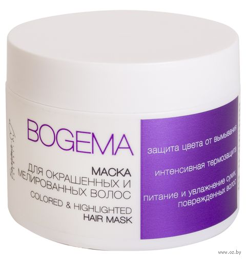 """Маска для волос """"Bogema. Для окрашенных и мелированных волос"""" (250 г) — фото, картинка"""