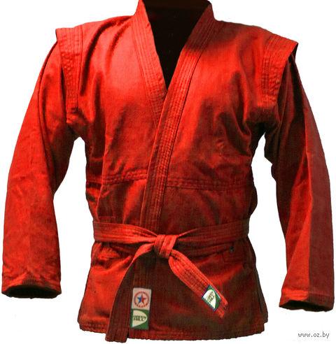Куртка для самбо JS-302 (р. 3/160; красная) — фото, картинка