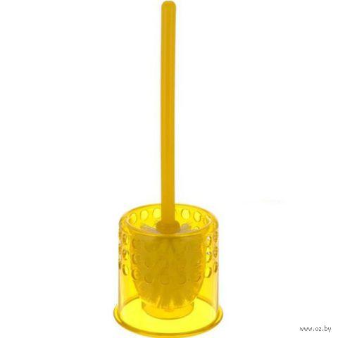 Щетка для WC пластмассовая в пластмассовой подставке (36х12,5 см)
