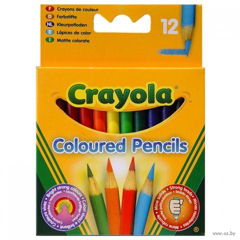 """Цветные карандаши """"Crayola. Короткие"""" (12 цветов)"""