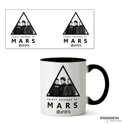 "Кружка ""30 Seconds to Mars"" (арт. 144, черная)"