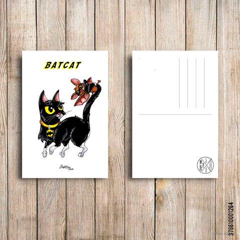 """Открытка """"Batcat"""" (арт. 264) — фото, картинка"""