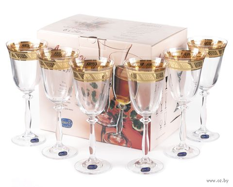 "Бокал для вина стеклянный ""Angela"" (6 шт.; 250 мл; арт. 40600/378804/250) — фото, картинка"