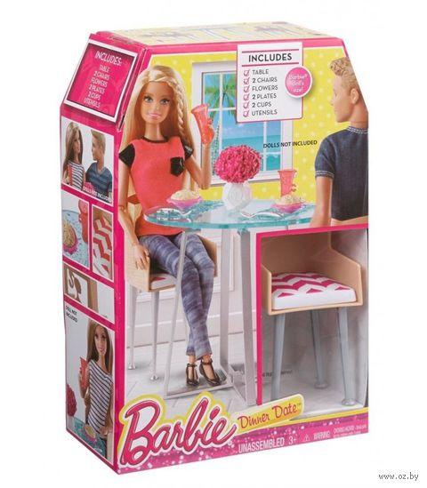 """Набор мебели для кукол """"Барби. Стол и стулья"""""""