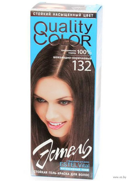 """Гель-краска """"Эстель Quality Color"""" (тон: 132, шоколадно-коричневый)"""