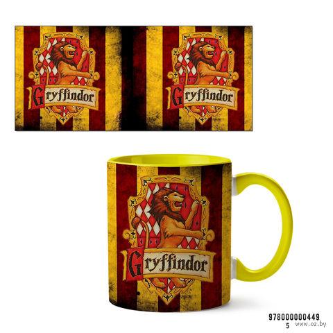 "Кружка ""Гриффиндор. Гарри Поттер"" (желтая)"