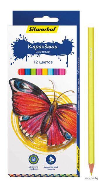 """Цветные карандаши """"Бабочки"""" (12 цветов)"""