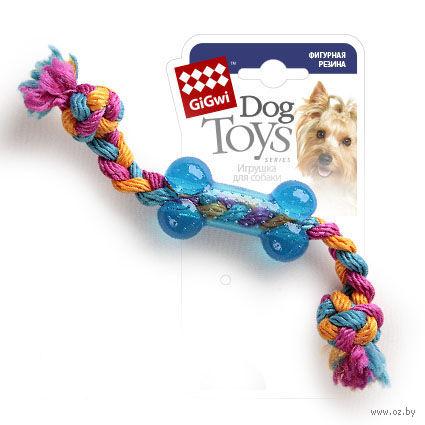 """Игрушка для собак """"Косточка на веревке"""" (26 см)"""