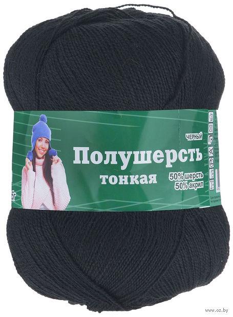 """Пряжа """"Астра. MIX Wool XS"""" (черная; 100 г; 600 м) — фото, картинка"""
