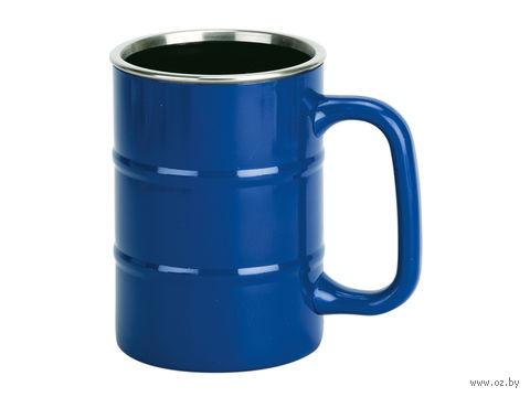 """Кружка """"Баррель"""", синяя (400 мл)"""