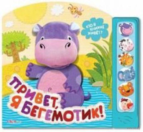 Привет, я бегемотик! Кто в книжке живет? Книжка-игрушка. Е. Горбаченок