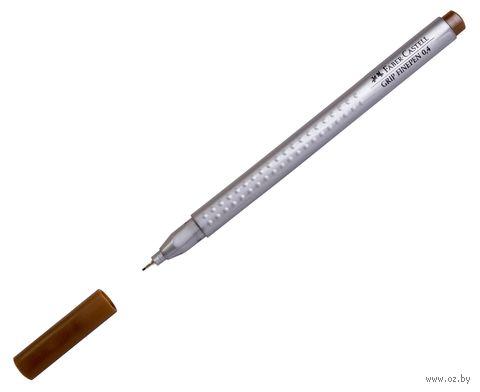 """Ручка капиллярная """"Grip Finepen"""" (0,4 мм; темная охра) — фото, картинка"""