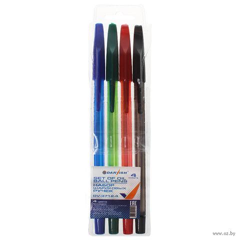 """Набор шариковых ручек """"Darvish"""" (4 цвета; арт. DV-3712-4)"""