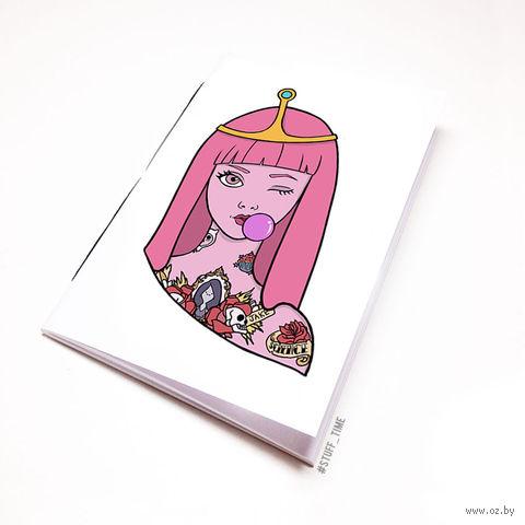 "Блокнот белый ""Время Приключений. Принцесса Бубльгум"" А5 (276)"