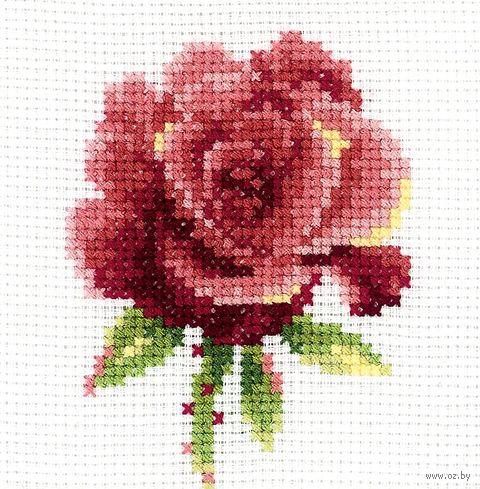 "Вышивка крестом ""Красная роза"""