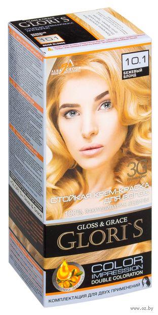 Крем-краска для волос (тон: 10.1, бежевый блонд, 2 шт)