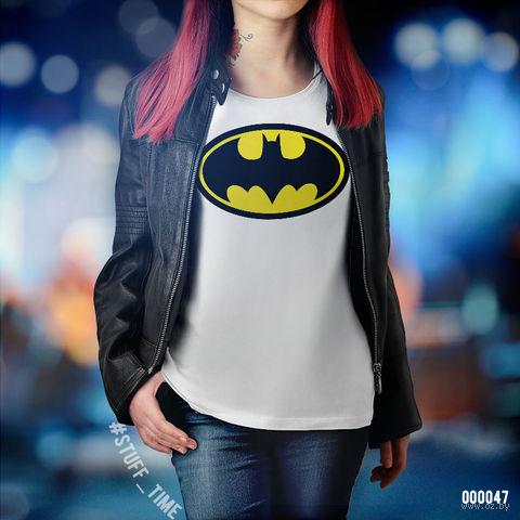"""Футболка женская """"Бэтмен"""" (L; арт. 047)"""