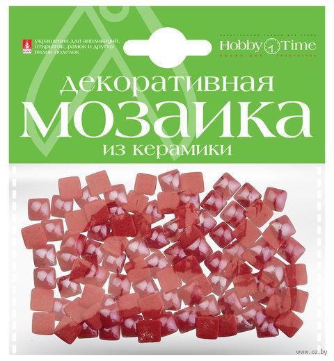 Мозаика декоративная из керамики №20 (8х8 мм; 100 шт.; красный) — фото, картинка
