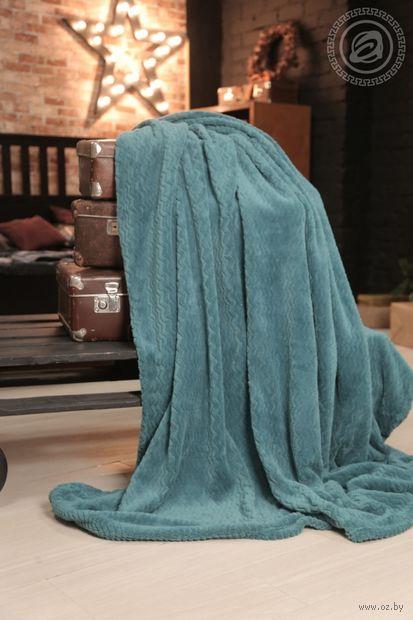 """Плед """"Smeraldo"""" (180х200 см; бирюза) — фото, картинка"""