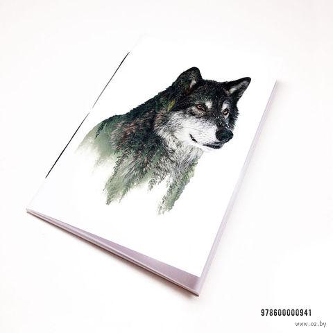 """Блокнот белый """"Волк"""" А7 (941)"""