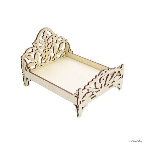 """Заготовка деревянная """"Кровать. Листья"""" (120х95 мм)"""