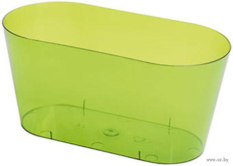 """Цветочный горшок """"Вулкано"""" (26,7 см; прозрачный зеленый) — фото, картинка"""