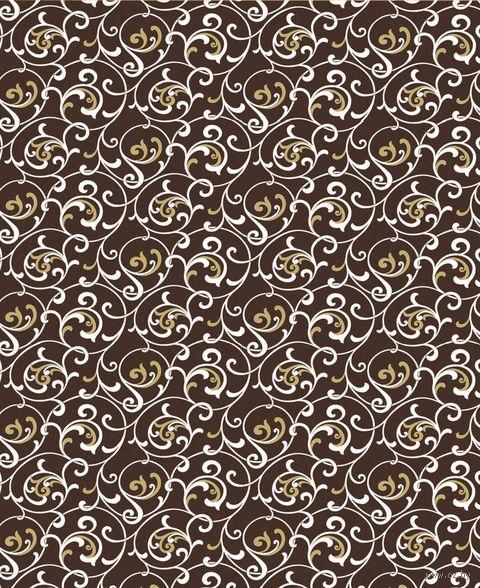 """Простыня хлопковая на резинке """"Завитки шоколад"""" (140х200 см) — фото, картинка"""