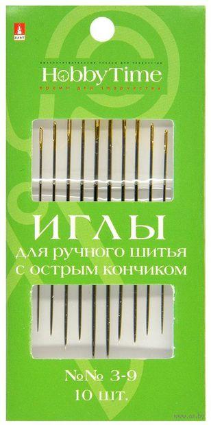 Иглы для шитья №3-9 (10 шт.) — фото, картинка