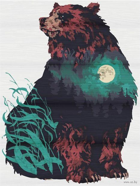 "Картина по номерам на деревянном холсте ""Душа леса"" (400х500 мм) — фото, картинка"