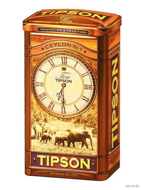 """Чай черный листовой """"Tipson. Ceylon №1"""" (150 г; в банке) — фото, картинка"""