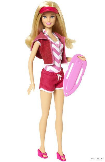 """Кукла """"Барби. Кем быть?"""" (спасательница на пляже)"""