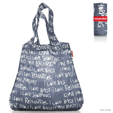 "Сумка складная ""Mini maxi shopper"" (letters grey)"