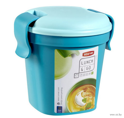 """Контейнер для еды """"Lunch&Go"""" (0,4 л; голубой)"""