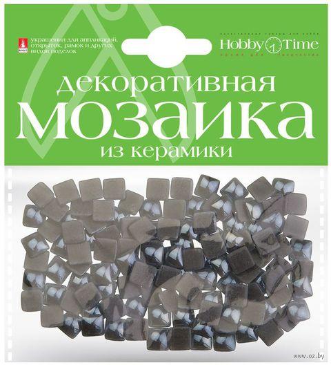 Мозаика декоративная из керамики №23 (8х8 мм; 100 шт.; серый) — фото, картинка