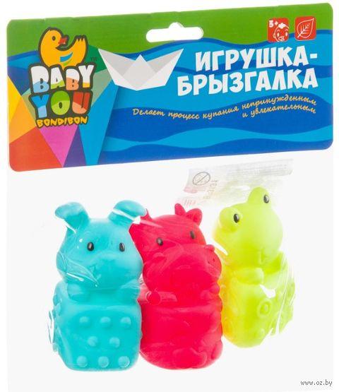 """Набор игрушек для купания """"Корова, лягушка, кролик"""" (3 шт.) — фото, картинка"""
