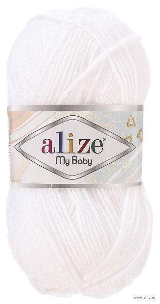 "Пряжа ""ALIZE. My Baby №55"" (50 г; 150 м; белый) — фото, картинка"