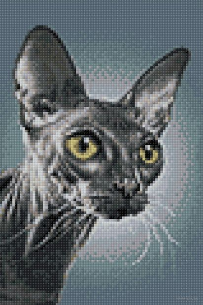 "Алмазная вышивка-мозаика ""Темный сфинкс"" (200х300 мм) — фото, картинка"