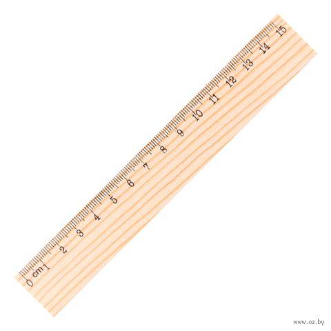 """Линейка  деревянная """"Darvish"""" (15 см)"""