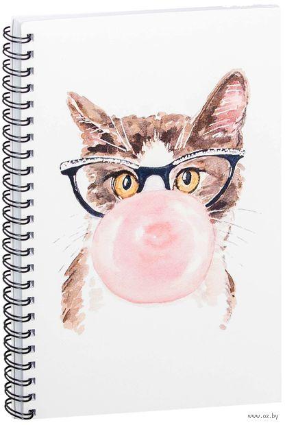 """Блокнот в клетку """"Кот"""" (A5; арт. 722) — фото, картинка"""