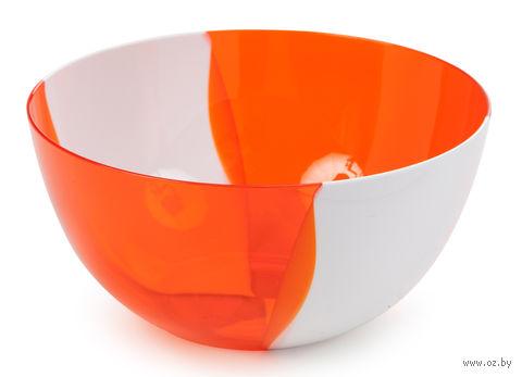 """Салатник двухцветный """"Dolce"""" (1,4 л; апельсин) — фото, картинка"""