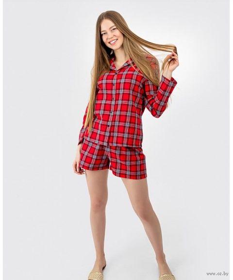 """Пижама женская """"592334"""" (красный) — фото, картинка"""