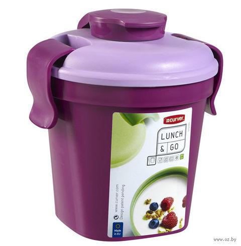"""Контейнер для еды """"Lunch&Go"""" (0,4 л; прозрачный фиолетовый)"""